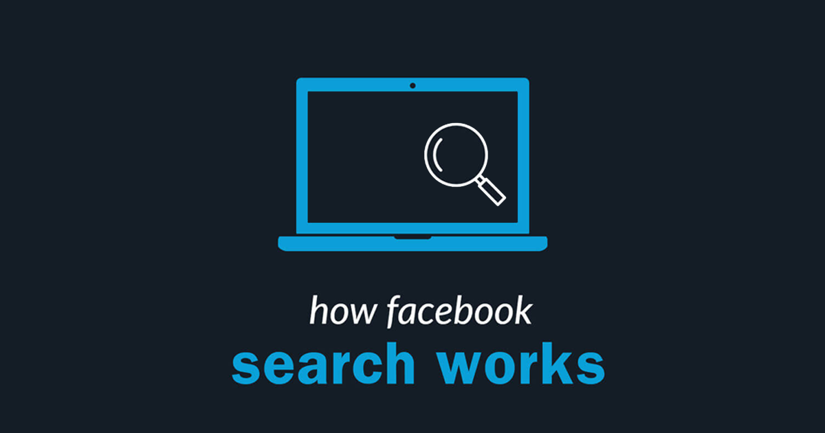 How Facebook search works - ads!
